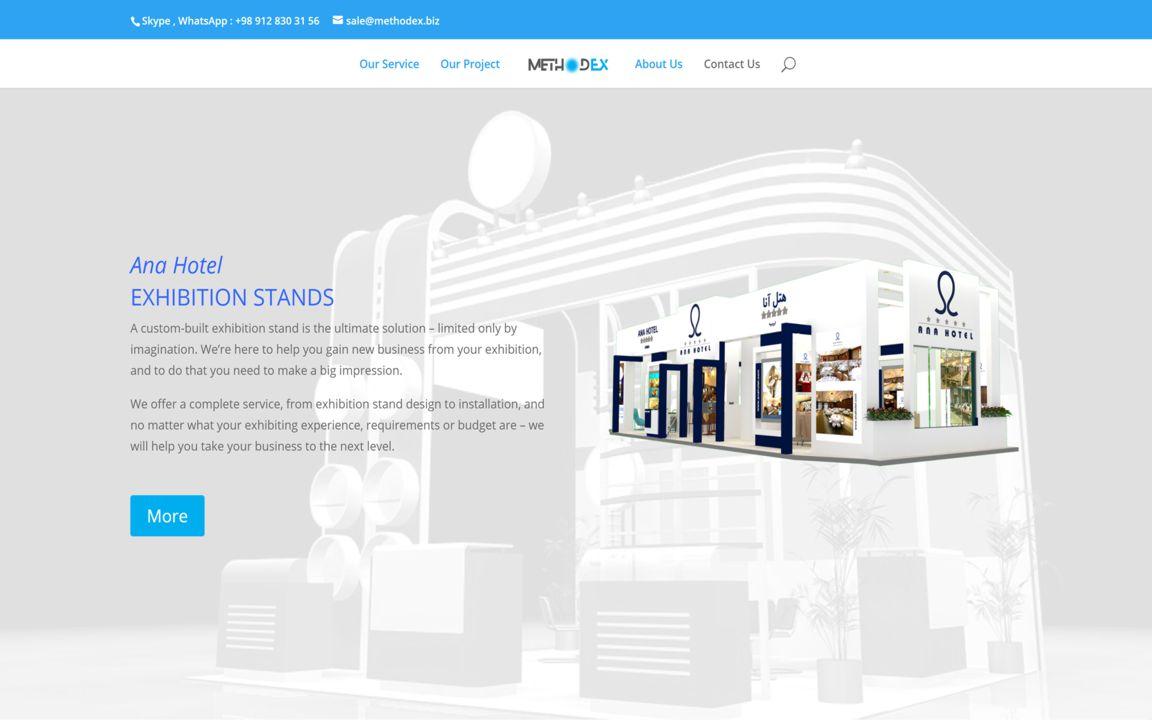 وب سایت شرکت غرفه سازی متدکس