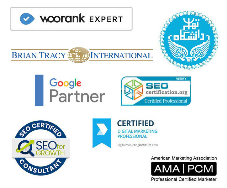 مدارک تخصصی گروه خدمات دیجیتال مارکتینگ