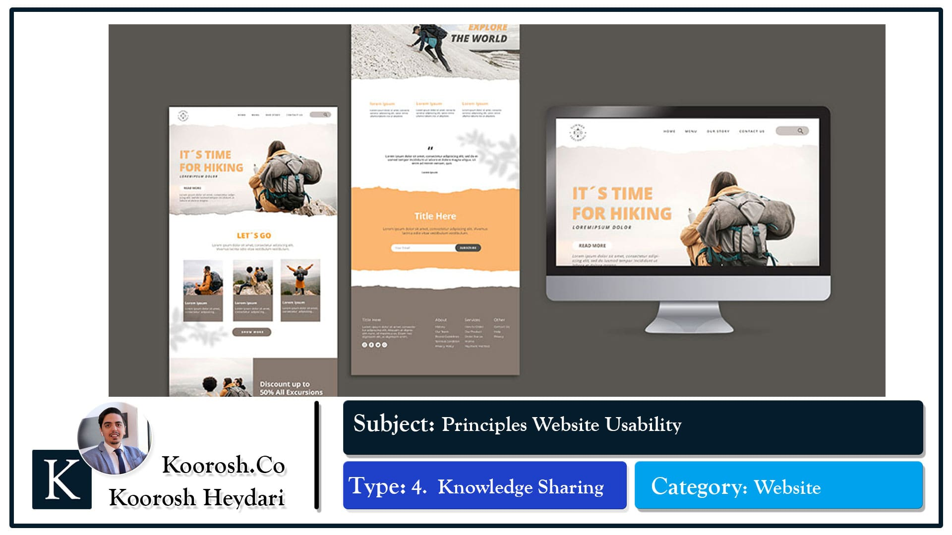 اصول مهم در کارایی طراحی وبسایت