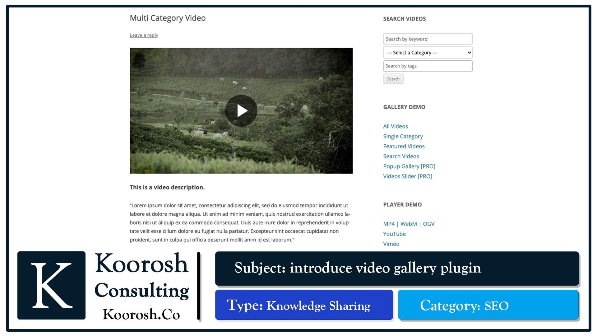 4. ویدیوهایی که از سمت سرور بر روی URL های جداگانه
